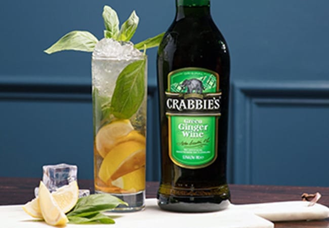 Crabbies Ginger and Basil Collins Serve