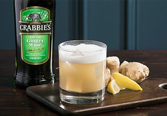 Crabbies Ginger Calvados Sour Serve