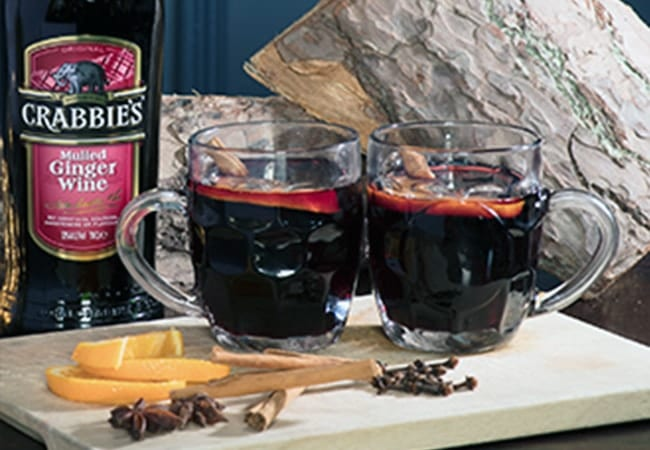 Crabbies Mulled Ginger Wine Serve