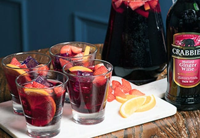 Crabbies Mulled Sangria Serve