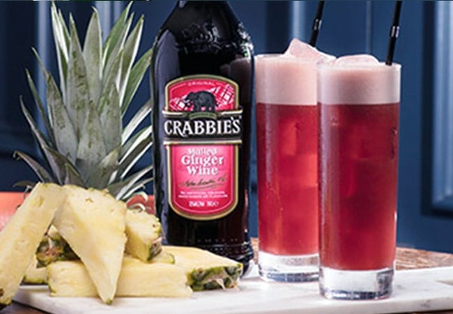 Crabbies Mulled Spice Pineapple and Strawberry Punch Serve